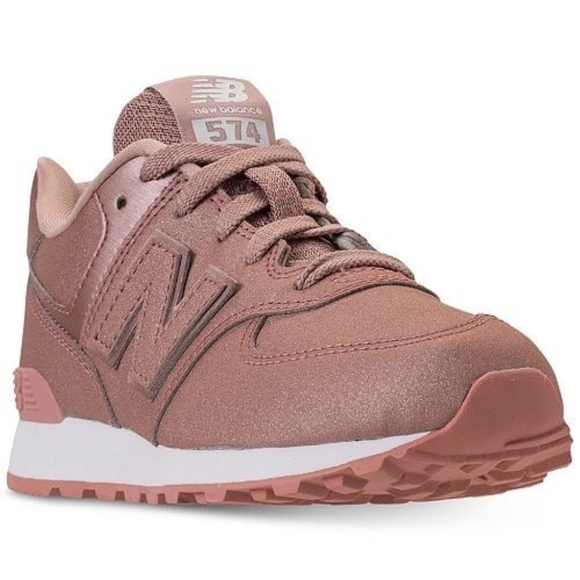 New Balance 574 Pink Glitter Sneakers NWT